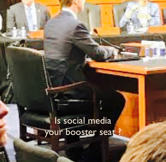 Is social media  your booster seat ?