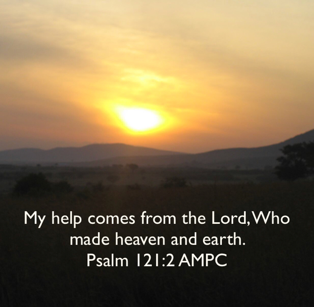 My help comes from the Lord, Who made heaven and earth.  Psalm 121:2 AMPC