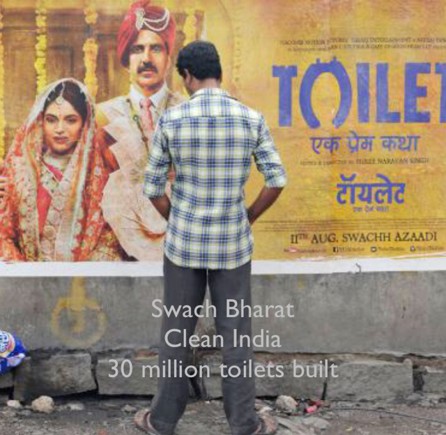 Swach Bharat Clean India 30 million toilets built