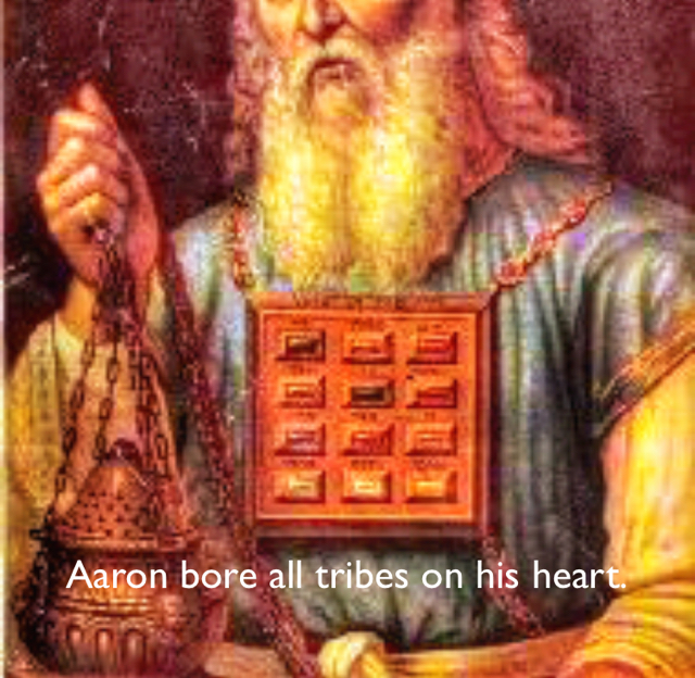 Aaron bore all tribes on his heart.