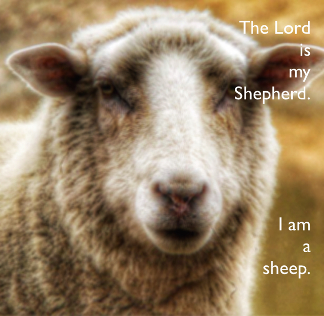 The Lord  is  my  Shepherd. I am  a  sheep.
