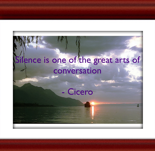 Silence is one of the great arts of conversation - Cicero