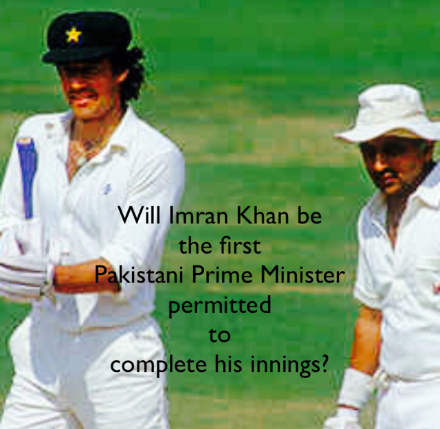 Will Imran Khan be  the first  Pakistani Prime Minister  permitted  to  complete his innings?