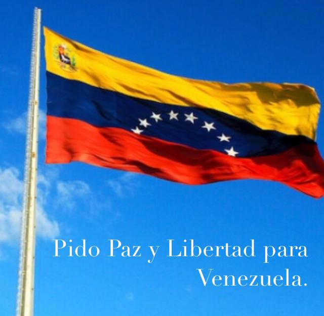 Pido Paz y Libertad para Venezuela.