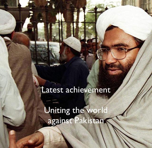 Latest achievement Uniting the world  against Pakistan