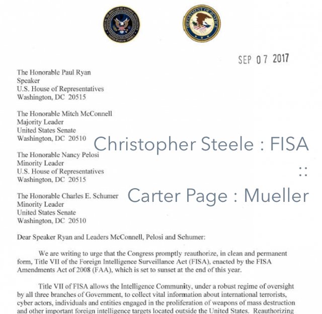 Christopher Steele : FISA :: Carter Page : Mueller