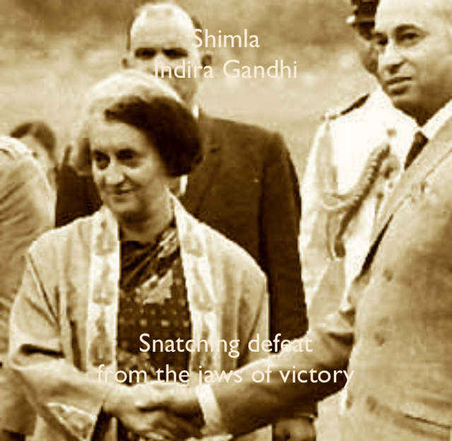 Shimla Indira Gandhi Snatching defeat  from the jaws of victory