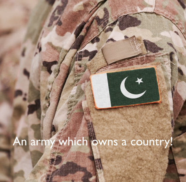 An army which owns a country!