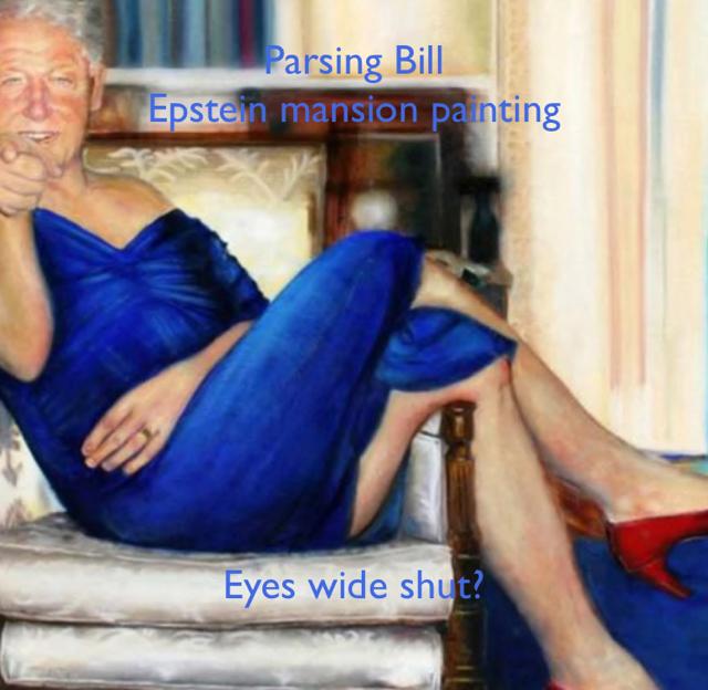Parsing Bill Epstein mansion painting Eyes wide shut?