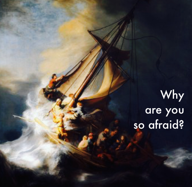 Why  are you  so afraid?