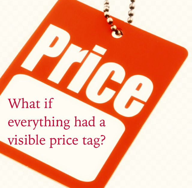 What if  everything had a  visible price tag?